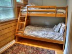 Twin over Full Size Bunk Bed on Main Floor