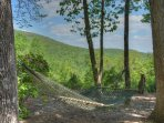 Relax in our hammock and enjoy the mtn fresh air