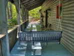 Covered Front Porch with swing