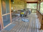 Covered Back Deck Overlooking the River