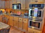 5 Burner Gas Stove and Double Wall Oven