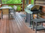 Gas Grill on Covered Deck