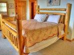 King bed in master bedrom