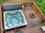 Hot Tub and Fire Pit on lower deck