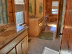 Jack and Jill Bathroom with Tub/Shower