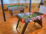 Pool table and Foosball game