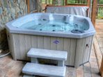 Relax in our Soothing and Bubbly Hot Tub