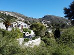 View in the spring from the villa of the valley and the El Portet fortress