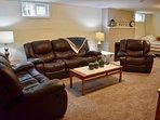 Lower level family room - 2 living rooms!