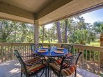 Enjoy appetizers on the deck while enjoying the beautiful view of the George Fazio Golf Course!