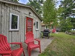 Grab some fresh air on the patio with 2 Adirondack chairs, a gas grill, and picnic table.