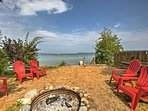 Walk down by the shore and sink your toes in the sand around the shared fire pit.