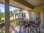 Private lovely deck.  Access from living room or master bedroom.
