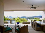 Ocean View Covered Dining Deck