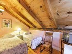 Vaulted ceilings in the upstairs bedrooms create the perfect cozy atmosphere for a good nights sleep.