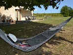 Relax in the hammock under the shade of the mulberry tree