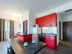 Red Apartment - Kitchen