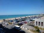 vue du séjour plage en été