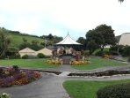Beautiful gardens by the Landmark Theatre in Ilfracombe