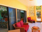 Our 240 sq ft gallery has comfortable seating and direct beach access