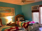 Second bedroom has twin beds and A/C
