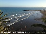 Las Burras beach only 400 meters far away from the apartament