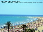 Playa del Inglés only 1,5 Km far s away from the apartment