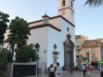 Fuengirola with its picturesque church plaza and bustling restaurants and bars is just 15 mins away