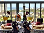 Breakfast on the balcony -Pictured shared with us from one of our many guests