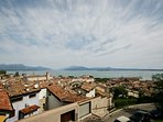 Lovely view over lake Garda from the castle.