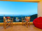 Sitting on the veranda with its unobstructed view, the terrace features many kinds of seating!!!.