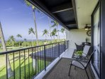 Spacious Lanai with Ocean and Golf Course Views