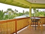 More Outdoor Dining Space off Upper Lanai with Ocean Views