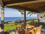 Teak Dining on Ocean Front Lanai