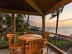 Teak Dining Table on Ocean Front Lanai