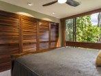 Guest Bedroom with Custom Closet and Mahogany Doors