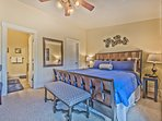 Master Bedroom with King Bed, Large Flat Screen TV, Full Private Bath and Private Deck