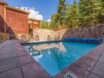 Communal Heated Pool, Hot Tub and BBQ with Patio Seating and (Seasonal) Lounge Chairs