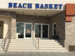 Beach basket grocery store, right at the resort!