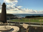Tamarisk balcony overlooking Treyarnon Bay