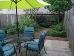 Private backyard patio garden