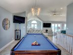 Pool Table with great view off living room