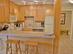 Nicely updated kitchen and bar, fully equipped