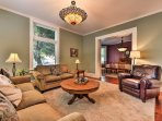 After a long day, relax in the gathering space and retell old family stories as you each take a spot on the cozy...