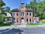 You'll be right across the street from the historic Ottinger Hall Firehouse!