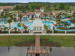 Lazy River nestled in this 5 Star  Windsor at Westside Resort.Free water park. Plus private pool.