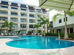 The pool area is the ultimate location to relax and to enjoy the Aruban weather