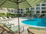 Loungers chairs, pool towels and parasols are all included during your stay!