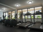 Cross Trainers, Treadmills, Exercise bikes and Rowing machines, all available for free use of all guests