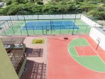 Hard surface tennis court and half basketball court avialable too!